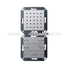 Gira E22 Алюминий Внутренняя квартирная станция Комфорт (аудио) скрытого монтажа (G1280203)