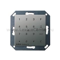 Gira E22 Сталь Цифровой кодовый замок (G260520)