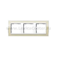 Gira EV CL Песочный/Бел Рамка 3-ая (G213773)