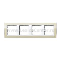 Gira EV CL Песочный/Бел Рамка 4-ая (G214773)