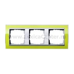 Gira EV CL Зеленый/Алюминий Рамка 3-ая (G213746)