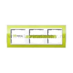 Gira EV CL Зеленый/Бел Рамка 3-ая (G213743)