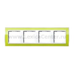 Gira EV CL Зеленый/Бел Рамка 4-ая (G214743)