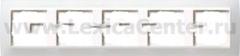 Gira EV Матово-Бел/бел Рамка 5-ая (G215334)