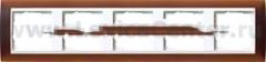 Gira EV Матово-коричневый/бел Рамка 5-ая (G215331)