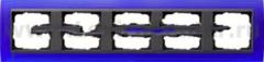 Gira EV Матово-синий/антрацит Рамка 5-ая (G21589)