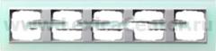 Gira EV Матово-зелёный/алюминий Рамка 5-ая (G21551)