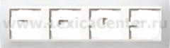 Gira EV Полупрозрачн.белая/глянц.бел Рамка 4-ая (G214334)