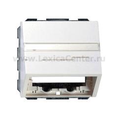 Gira F100 Бел глянц Накладка с опорной пластиной и полем для надписи для розеток средств связи (G870112)