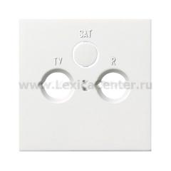 Gira F100 Бел глянц Накладка TV-FM-(SAT)розетки (G869112)