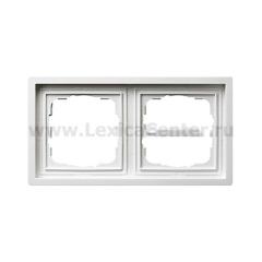 Gira F100 Бел глянц Рамка 2-ая (G212112)