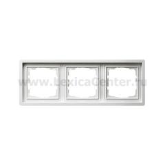 Gira F100 Бел глянц Рамка 3-ая (G213112)