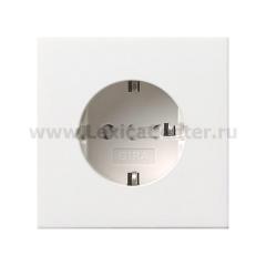 Gira F100 Бел глянц Розетка с/з (G188112)