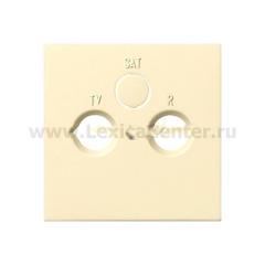 Gira F100 Крем глянц Накладка TV-FM-(SAT)розетки (G869111)