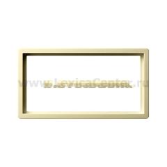 Gira F100 Крем глянц Рамка 2-ая без перегородки (G1002111)