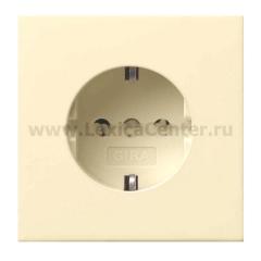 Gira F100 Крем глянц Розетка с/з (G188111)