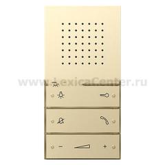 Gira F100 Крем глянц Внутренняя квартирная станция (аудио) скрытого монтажа hand free (G1280111)