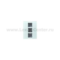Gira FKB-SYS Стекло Накладка для модульной стойки 3-постовая (G138318)