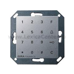 Gira S-55 Алюминий Цифровой кодовый замок (G260526)
