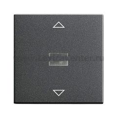Gira S-55 Антрацит Накладка нажимного электронного жалюзийного выключателя (G64428)