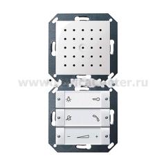 Gira S-55 Бел глянц Внутренняя квартирная станция (аудио) скрытого монтажа hand free прозр клавиши (G1280103)