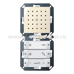 Gira S-55 Крем глянц Внутренняя квартирная станция (аудио) скрытого монтажа hand free прозр клавиши (G1280101)