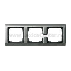 Gira Сталь Рамка 3-ая со скосами (G21320)