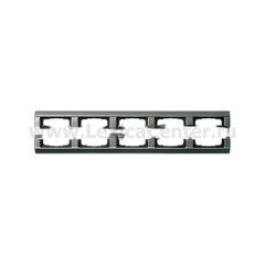 Gira Сталь Рамка 5-ая со скосами (G21520)
