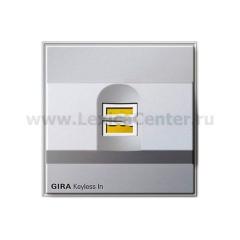 Gira TX-44 Алюминий Биометрический замок (G260765)