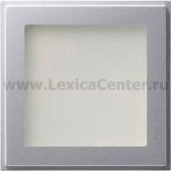 Gira TX-44 Алюминий Подсветка светодиодная для ориентирования оранжевая (G115965)