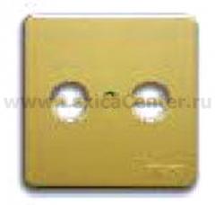 Гуси-Электрик С1А1-005 Накладка для антенной розеткиTV-FM ,цвет матовое золото