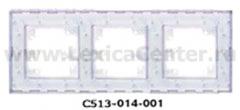 Гуси-Электрик С513-014-001 Рамка трехместная (белая платформа), цвет прозрачный