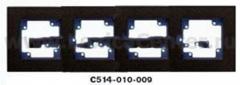 Гуси-Электрик С514-010-009 Рамка четырехместная (темно-серая платформа), цвет графит