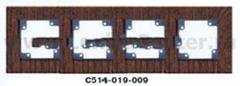 Гуси-Электрик С514-022-009 Рамка четырехместная (темно-серая платформа), дерево Венге