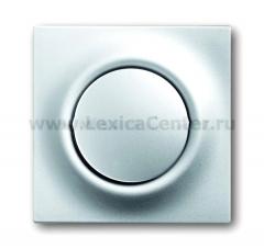 Клавиша для выключателя/переключателя 1 клавишного с подсветкой серебристый металлик Impuls (ABB) [BJE1786-783] 1753-0-0067