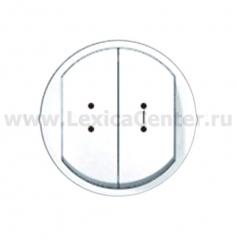 Клавиша для выключателя/переключателя 2 клавишного с индикацией белый Celiane (Legrand) 68004