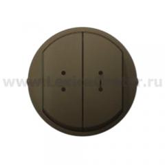 Клавиша для выключателя/переключателя 2 клавишного с индикацией графит Celiane (Legrand) 64911