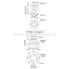 Кольцо для каскадного исполнения подвесов Fairy SPFAIR RINGS Axo Light ANELLOFAIRY060X Кольцо