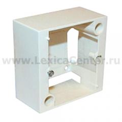 Коробка для накладного монтажа розеток Ledgrand 20А (82х82) 055439