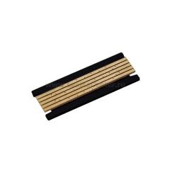 короткая декоративная плата черного цвета для магнитного шинопровода DLM/X Donolux Short Plate DLM/X Black