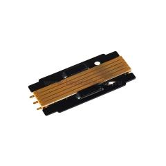 короткая электрическая плата черного цвета для магнитного шинопровода DLM/X Donolux Electrical Plate DLM/X Black