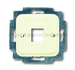 Корпус 1-ой телефон. и компьют. розетки (для мех-в 0210, 0211) белый Duro 2000 SI (ABB) [BJE2561-212] 1753-0-3825