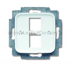 Корпус двойной телефонной/компьютерной розетки (0210, 0211) альпийский белый Reflex SI (ABB) [BJE2561-02-214] 1753-0-3965