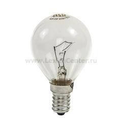 Лампа накаливания ШАР P45 40Вт 220В Е14 ПР 380Лм ASD