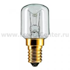 Лампа Philips T25 25W 230V E14 Clear (жаростойкая)