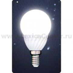 Лампа светодиодная Gauss Led P45 Ceramic Globe 3W E14 4100K (= 30W обычной)