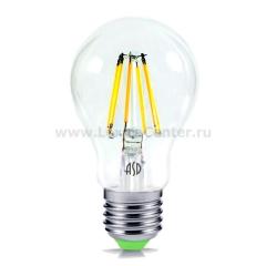 Лампа светодиодная LED-A60-PREMIUM 8Вт 160-260В Е27 4000К 720Лм прозрачная ASD