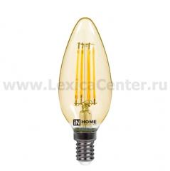 Лампа светодиодная LED-СВЕЧА-deco 7Вт 230В Е14 4000К 630Лм прозрачная IN HOME