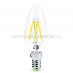 Лампа светодиодная LED-СВЕЧА-PREMIUM 5.0Вт 160-260В Е14 4000К 450Лм прозрачная ASD