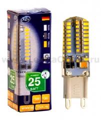 Лампа светодиодная REV 32368 6 LED JCD G9 3W 250Лм, 4000K, холодный свет